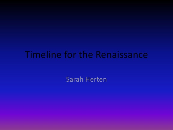 08 hum-renaissance- timeline- 17sarahh