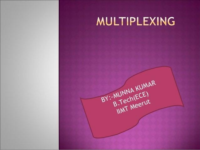 08 multiplexing