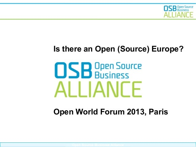 OWF13 - Is there an Open (Source) Europe?