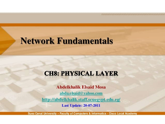 Suez Canal University – Faculty of Computers & Informatics - Cisco Local Academy Network Fundamentals Abdelkhalik Elsaid M...