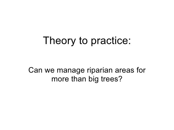Theory to practice: Can we manage riparian areas for more than big trees?