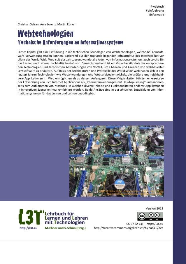 Webtechnologien - Technische Anforderungen an Informationssysteme