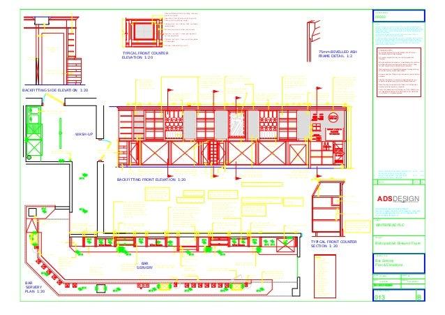 Bar Servery Plan amp Elevations For PubRestaurant