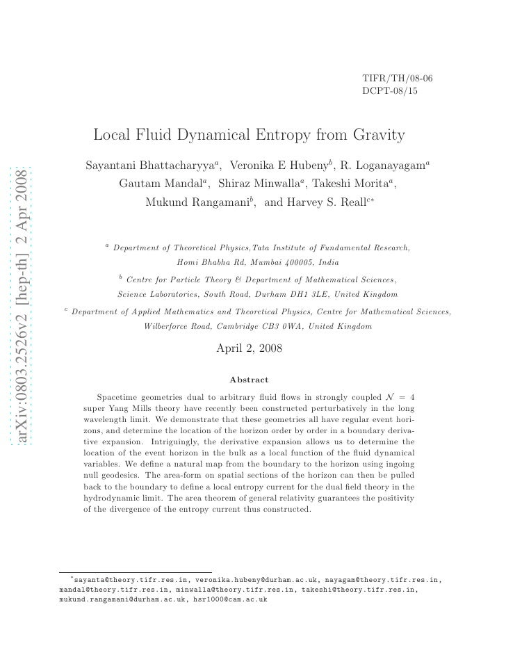 Local Fluid Dynamical Entropy from Gravity