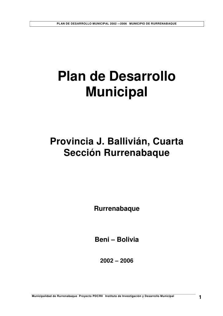 PDM Rurrenabaque