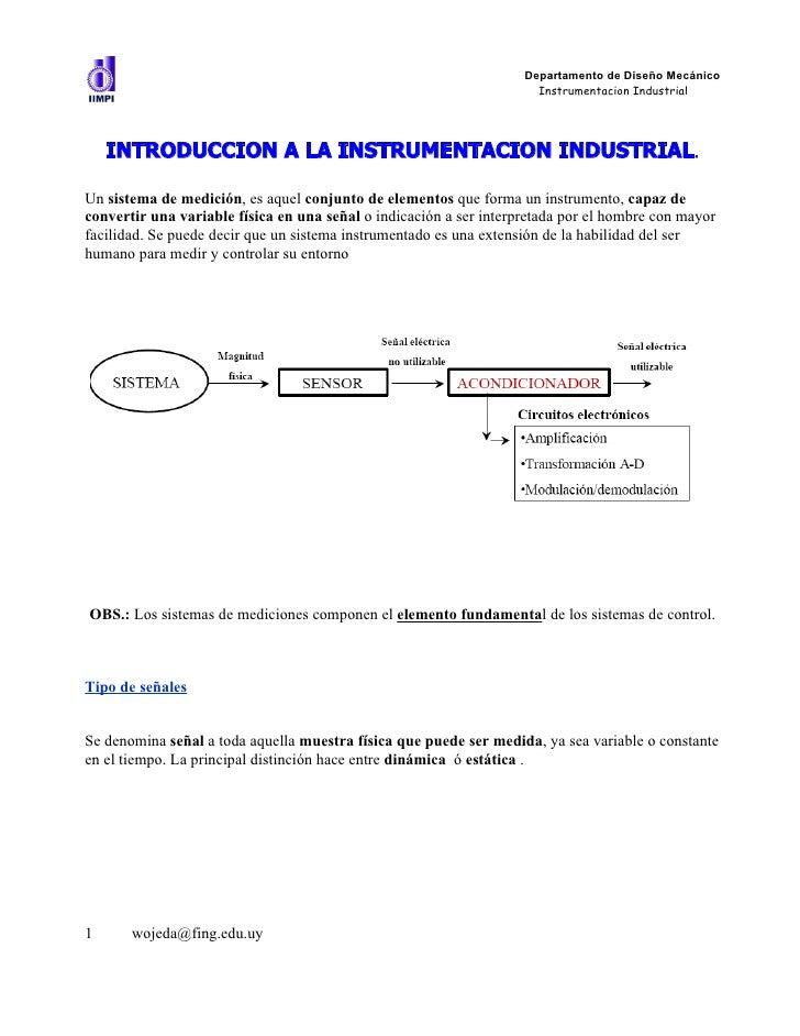 Departamento de Diseño Mecánico                                                                      Instrumentacion Indus...