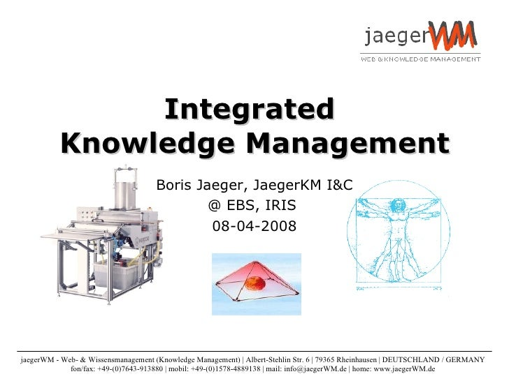 Integrated Knowledge Management