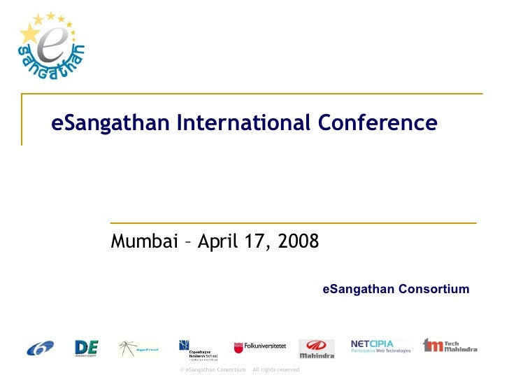 eSangathan Mumbai International Conference - Presentation of the project