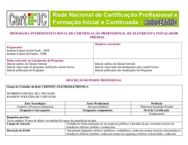 Rede Nacional de Certificação Profissional e                                        Formação Inicial e Continuada -  PROGR...