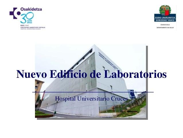 Hospital Universitario Cruces Nuevo Edificio de Laboratorios