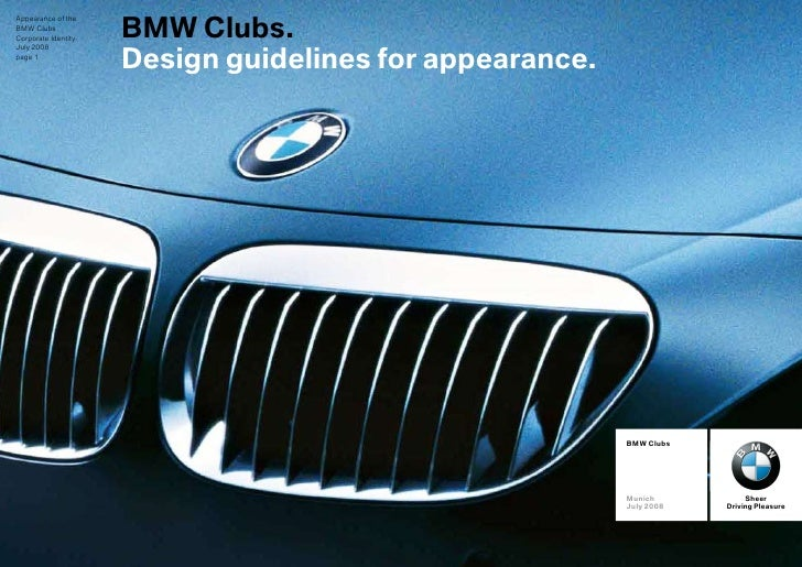 BMW Clubs - Design guidelines for appearance