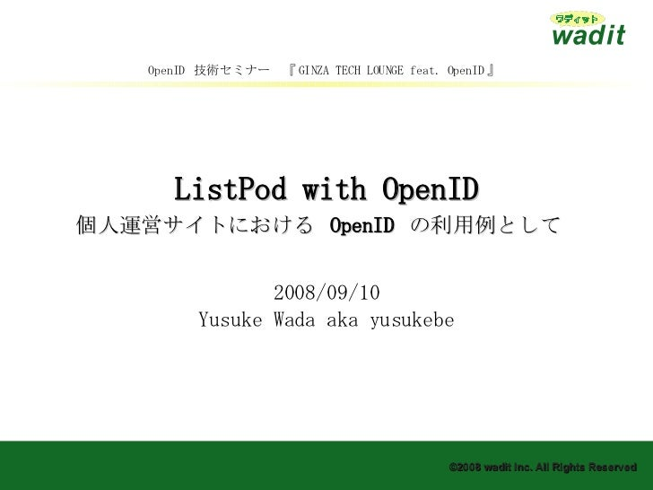 ListPod with OpenID