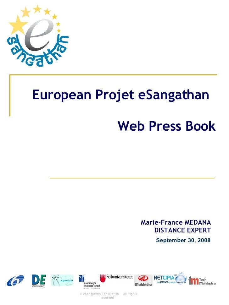 European Projet eSangathan Web Press Book