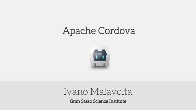 Gran Sasso Science Institute Ivano Malavolta Apache Cordova