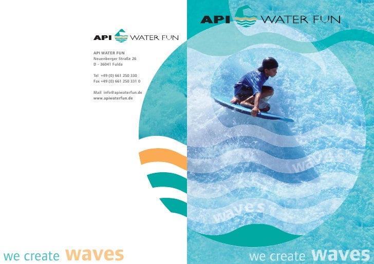 API Water Fun - Water leisure