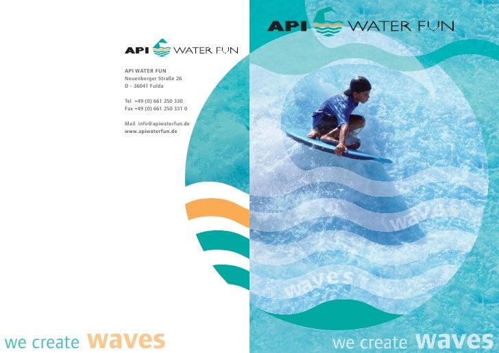 API Water Fun - Water leisure