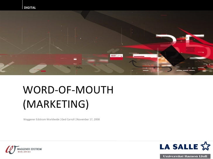 081017   Word Of Mouth