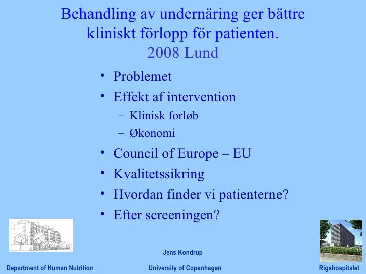 Lecture on screening. Lund Okt 2008