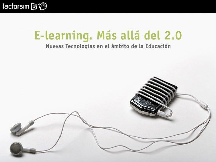 E-learning. Más allá del 2.0.