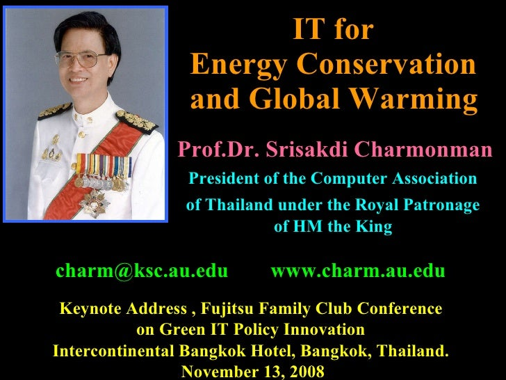 081113 It For Energy Conservation And Global Warming