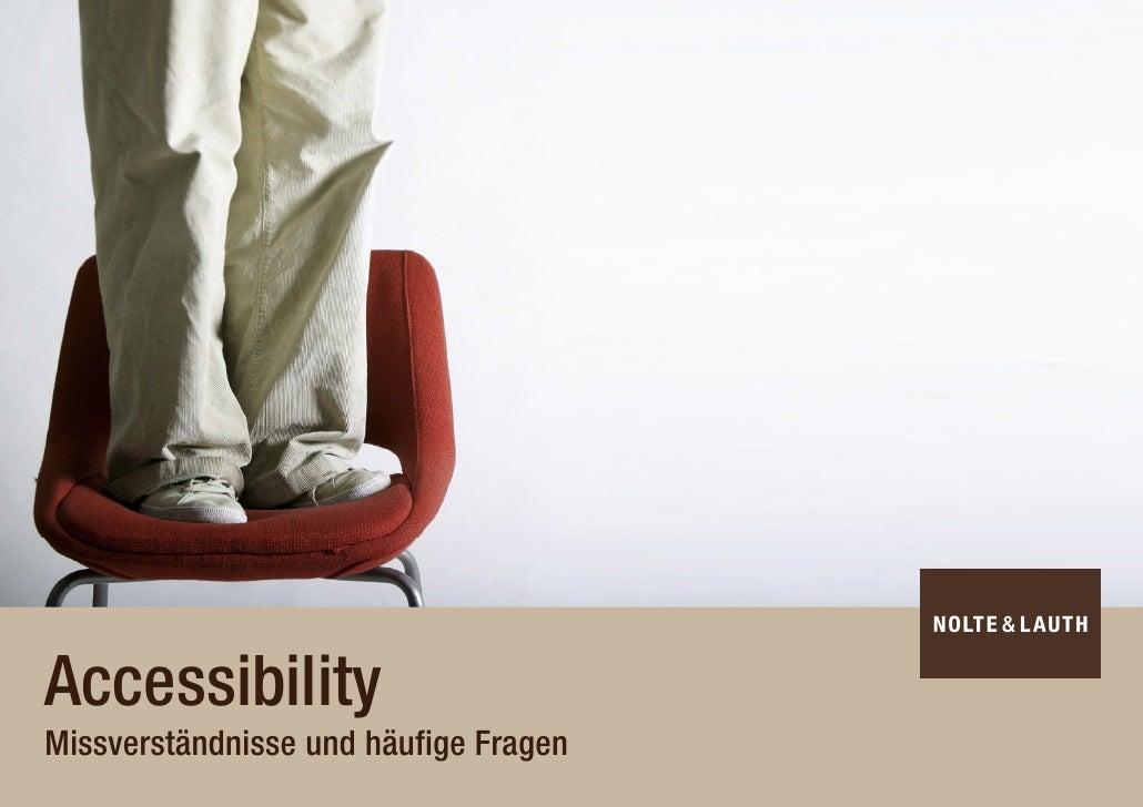 Accessibility Missverständnisse und häufige Fragen