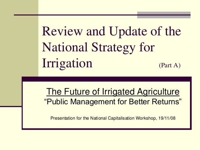 081119  Lao PDR - National Irrigation Strategy - Initial Discussions - parts a and b