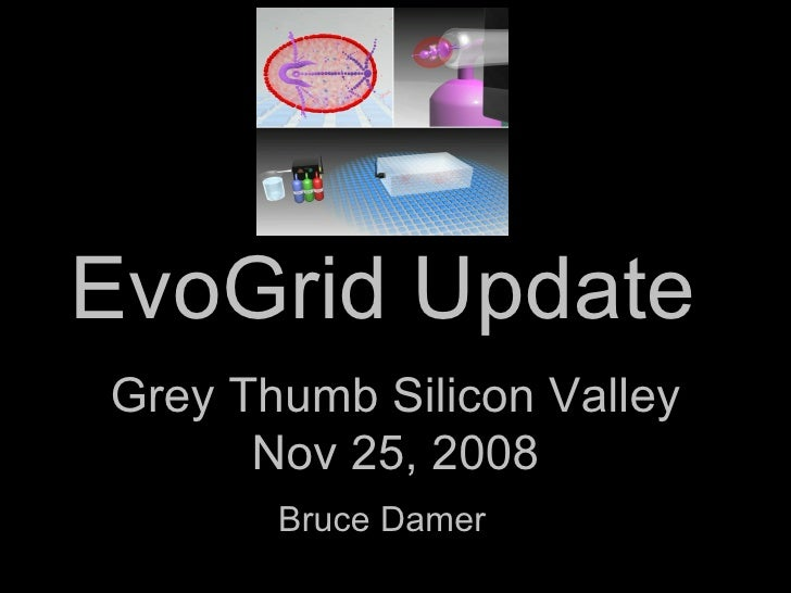 EvoGrid Update  Bruce Damer Grey Thumb Silicon Valley Nov 25, 2008