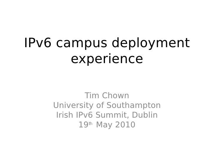 12.00 - Dr. Tim Chown - University of Southampton