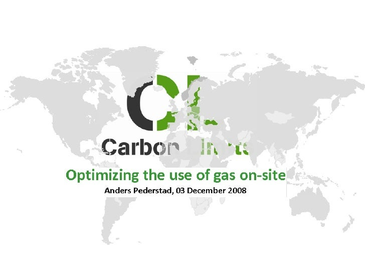 Alternative uses to reduce gas flaring - Anders Pederstad (Carbon Limits)