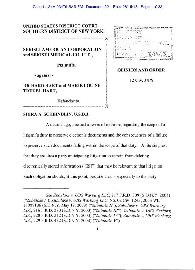 UNITED STATES DISTRICT COURT SOUTHERN DISTRICT OF NEW YORK ._-------------------------------------------------- )( SEKISUI...