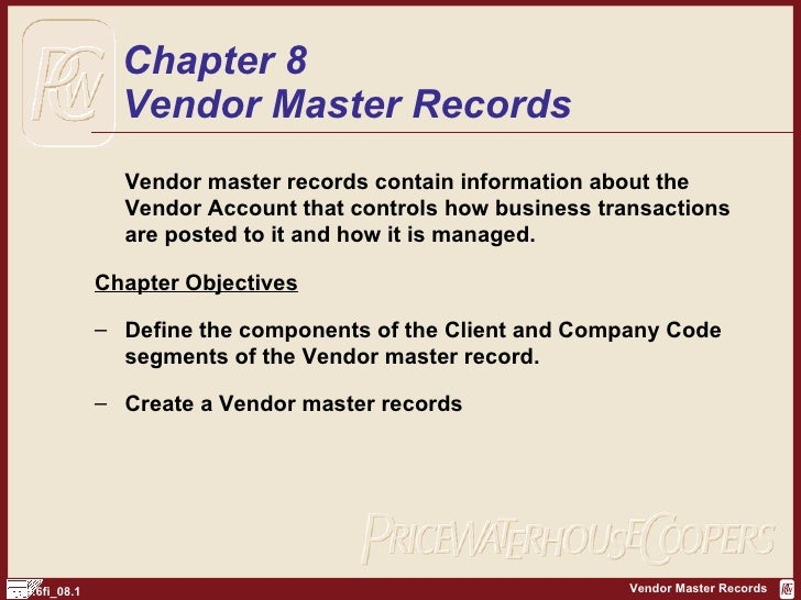 SAP FI Create Vendor Records | http://sapdocs.info