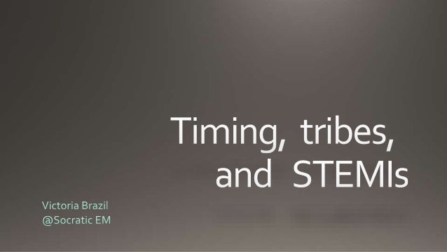 Brazil - Timing, Tribes and STEMI's