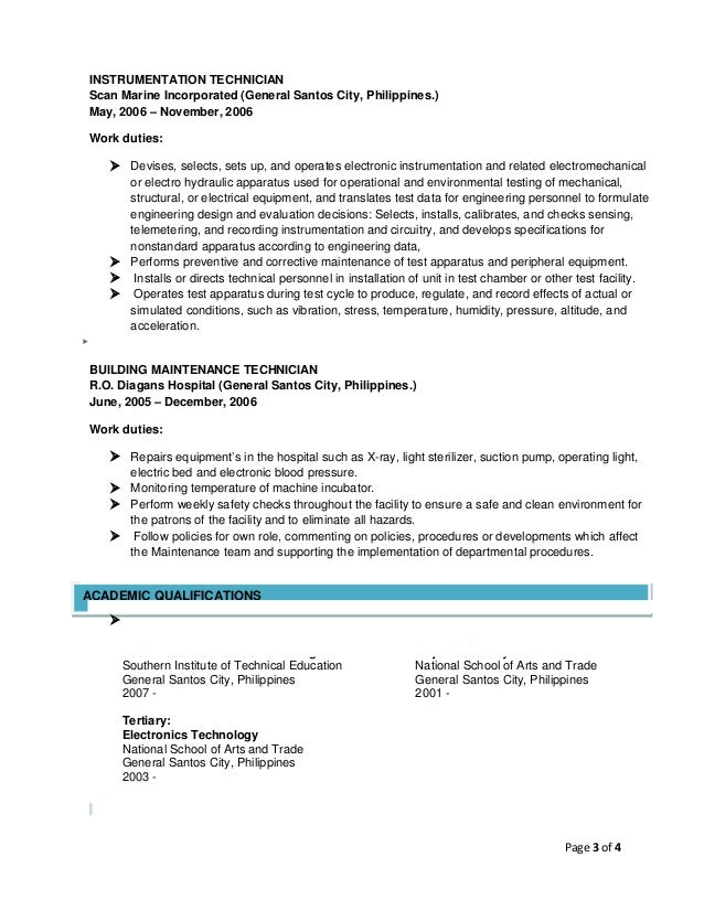 resume of garry