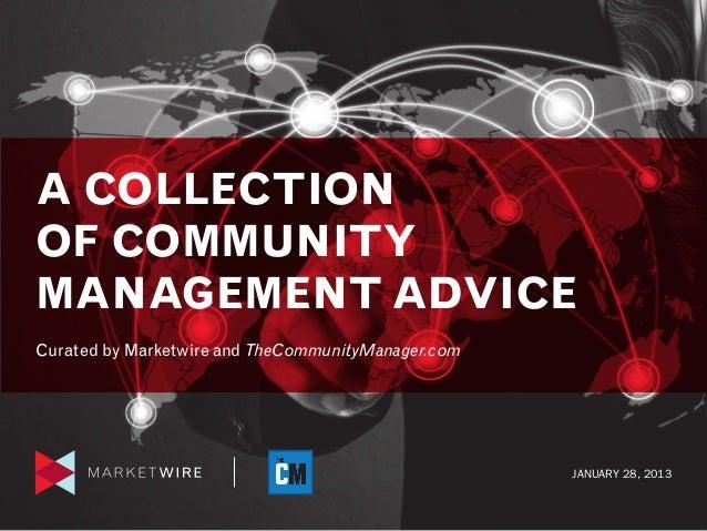 Community Management Advice