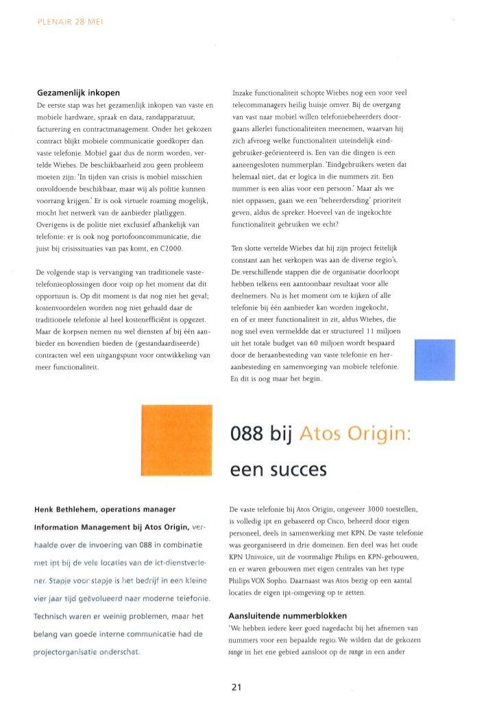 088 Bedrijfsnummers En Ipt Roll Out Artikel In Btg Magazine