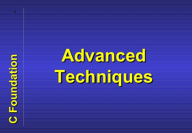 08 advanced techniques
