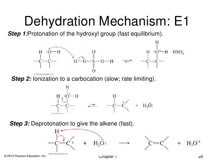 formation of an alkene by alcohol dehydration essay The dehydration of 2-butanol, a secondary alcohol carbocation intermediate that continues to form an alkene in an e1 to view the complete essay.