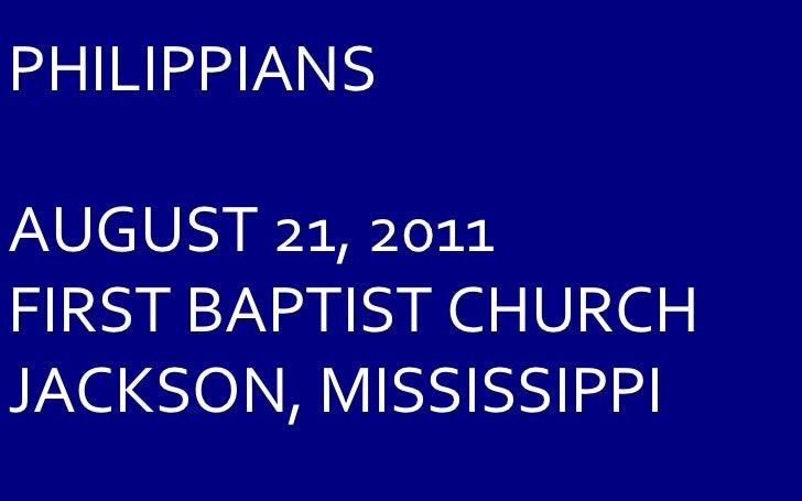 08 August 21, 2011 Philippians