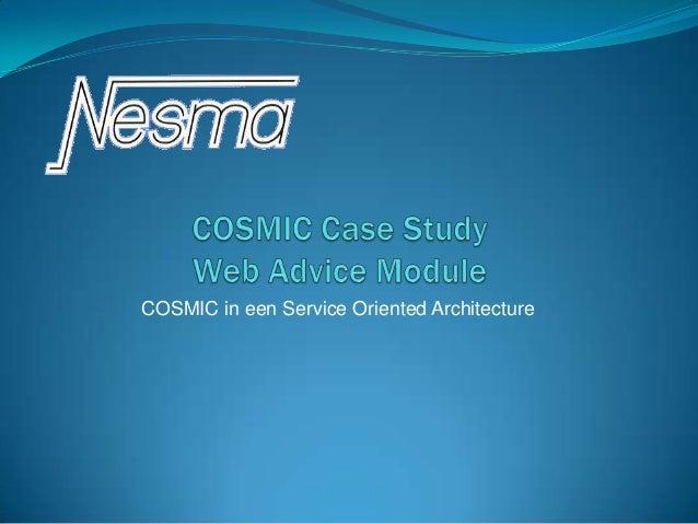 COSMIC case study - Frank Vogelezang - NESMA najaarsbijeenkomst 2012