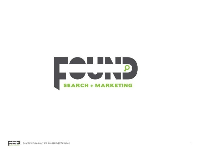 Foundsm: Proprietary and Confidential Information 1