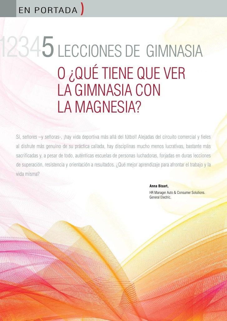 EN PORTADA                        )  12345 LECCIONES DE GIMNASIA                           O ¿QUÉ TIENE QUE VER           ...