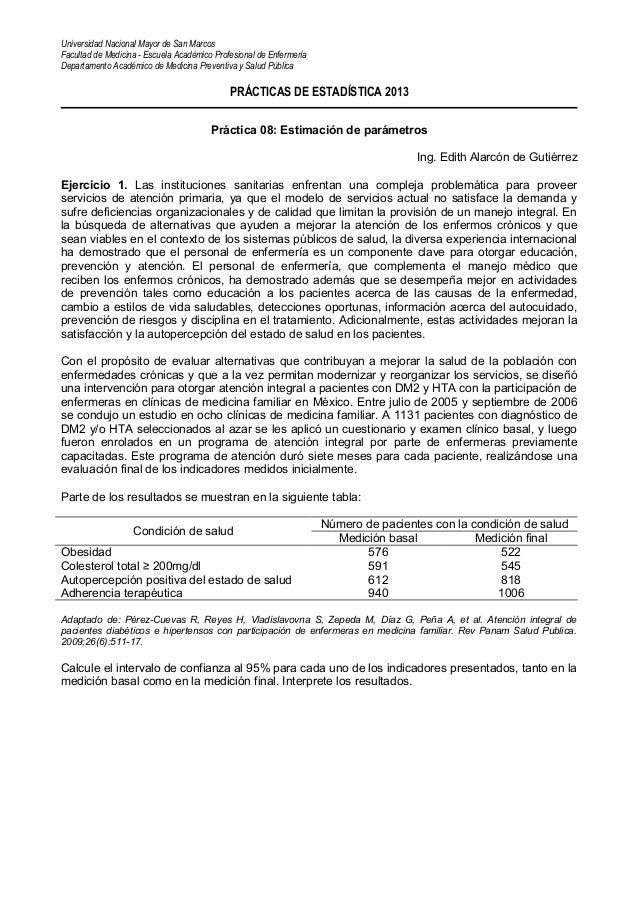 Universidad Nacional Mayor de San Marcos Facultad de Medicina - Escuela Académico Profesional de Enfermería Departamento A...