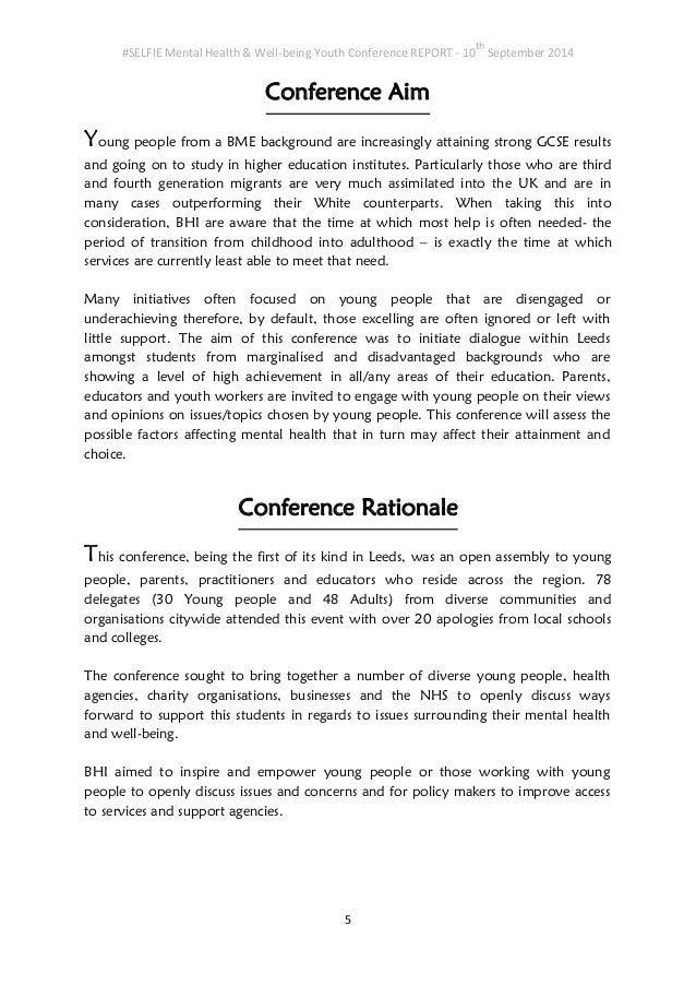 Youth Conference Background Youth Conference Report