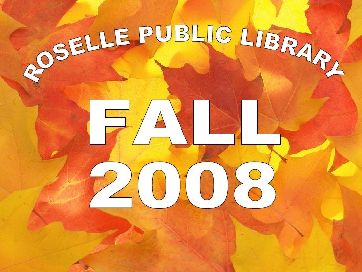 Fall Events @ Roselle Public Library