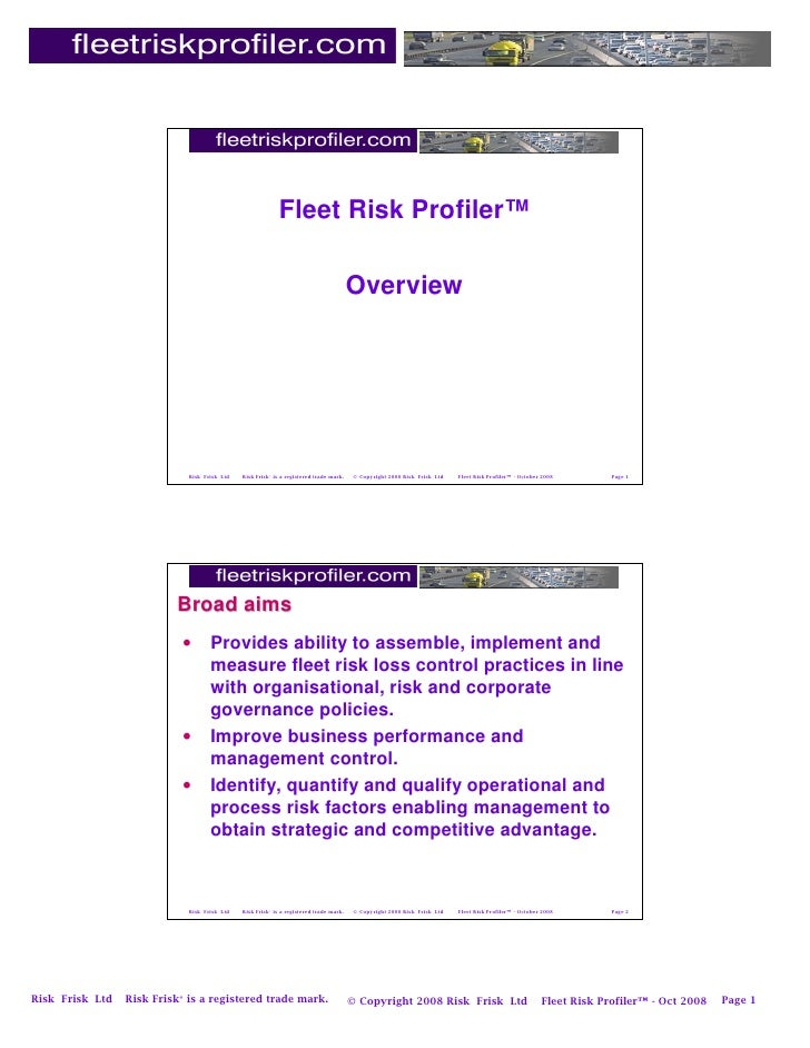 Fleet Risk Profiler™                                                                                          Overview    ...