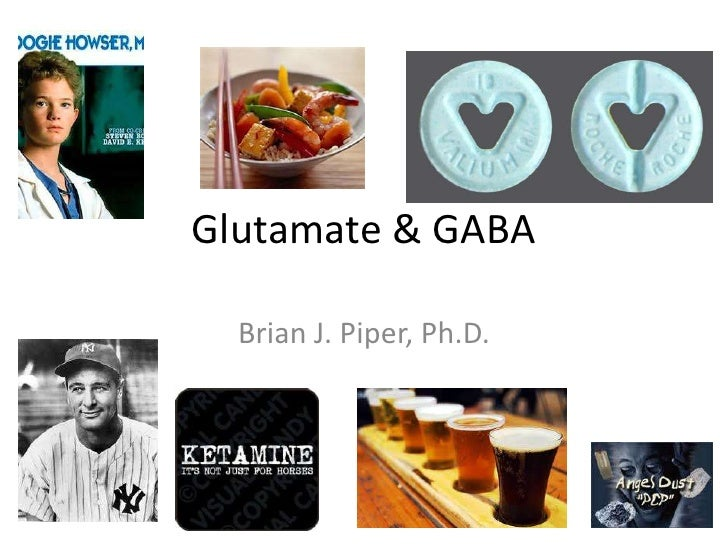 Glutamate & GABA  Brian J. Piper, Ph.D.