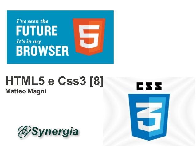 HTML5 e Css3 - 8 | WebMaster & WebDesigner