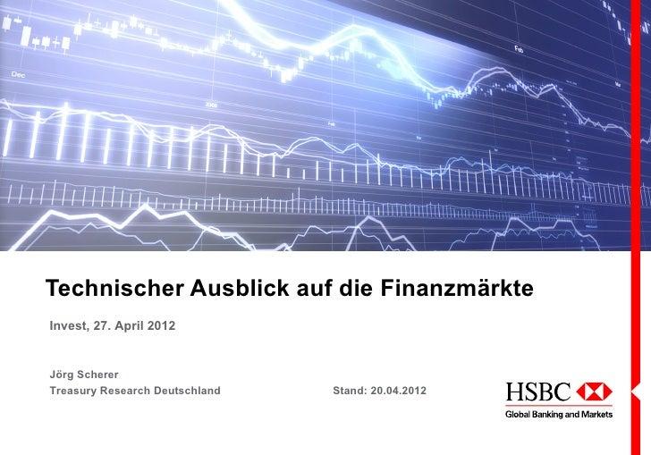 Technischer Ausblick auf die FinanzmärkteInvest, 27. April 2012Jörg SchererTreasury Research Deutschland   Stand: 20.04.2012