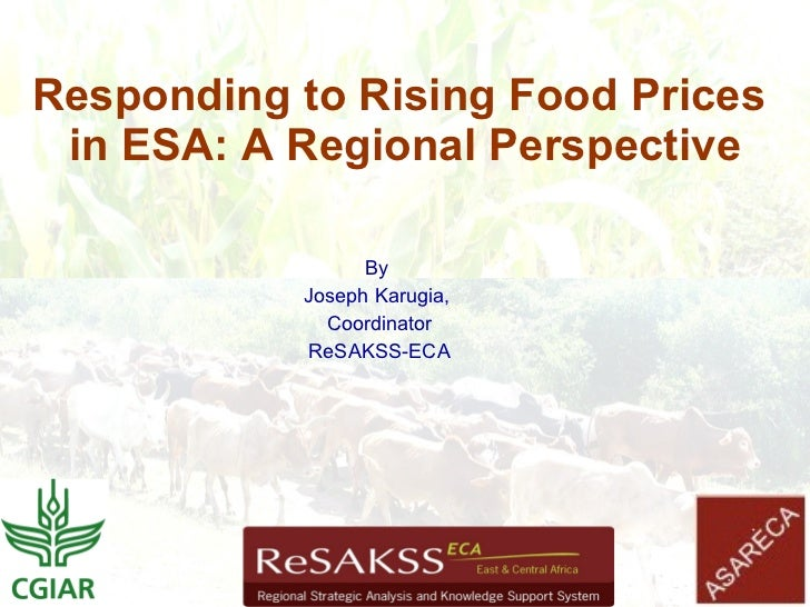 Responding to Rising Food Prices  in ESA: A Regional Perspective                   By            Joseph Karugia,          ...