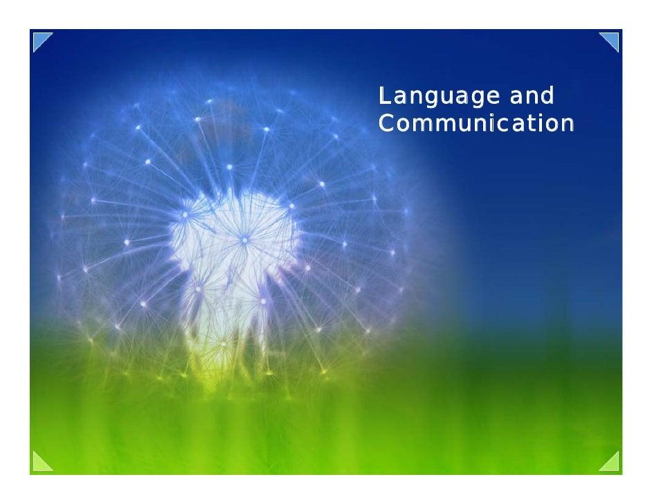 08 language and communication